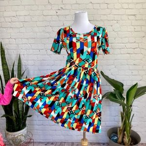 LuLaRoe Geometric Print Dress